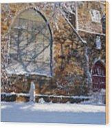 Lynn Central Congregational Church Lynn Ma Winter Wood Print