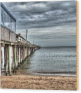 Lynnhaven Fishing Pier, Ocean Side Wood Print