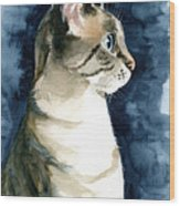Lynx Point Cat Portrait Wood Print