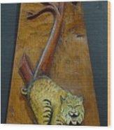 Lynx Wood Print by Ron Sylvia