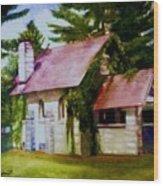 Lyons Falls Church Wood Print