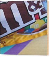 M And M Candy Wood Print