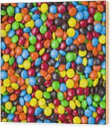 M And M Candy Real Chocolate Minis Wood Print