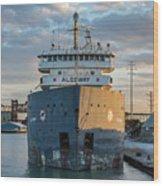 M/v Algoway At The Salt Dock Wood Print