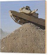 M1 Abrams Wood Print