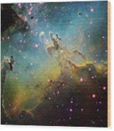 M16 The Eagle Nebula Wood Print by Ken Crawford