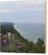 M22 Scenic Lake Michigan Overlook  Wood Print