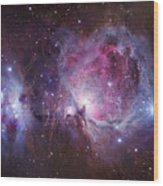 M42, The Orion Nebula Top, And Ngc Wood Print by Robert Gendler