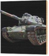 M48a2 Tank Wood Print