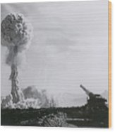M65 Atomic Cannon Wood Print