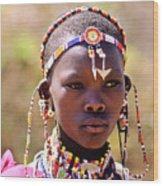 Maasai Beauty Wood Print