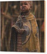 Maasai Boy Wood Print