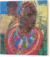 Maasai Daydream Wood Print