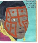 Maasai Wood Print