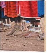 Maasai Feet Wood Print