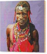 Maasai Moran Wood Print