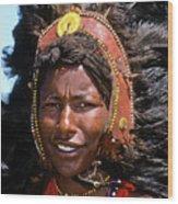Maasai Warrior Wood Print