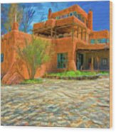 Mabel Dodge Luhan House As Oil Wood Print