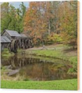 Mabry Mill In Fall 1 Wood Print