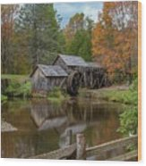Mabry Mill In Fall 2 Wood Print