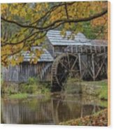 Mabry Mill In Fall 3 Wood Print