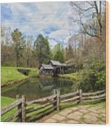 Mabry Mill In The Spring Wood Print