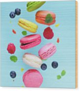 Falling In Love With Macaroons  Wood Print