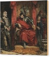 Macbeth Instructing The Murderers Employed To Kill Banquo Wood Print