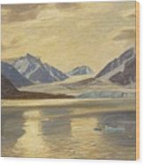 Macco, Georg 1863 Aachen - 1933   Glacier On Spitsbergen Wood Print