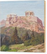 Macco, Georg 1863 Aachen - 1933   The Acropolis Of Athens. Wood Print