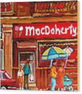 Macdohertys Icecream Parlor Wood Print