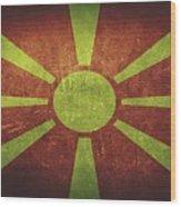 Macedonia Distressed Flag Dehner Wood Print