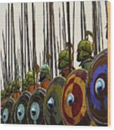 Macedonian Phalanx Wood Print