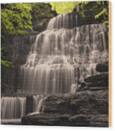 Machine Falls Mashup Wood Print