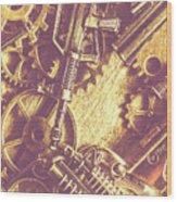 Machine Guns Wood Print