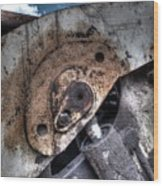 Machine Rust Hydraulic Ram Wood Print