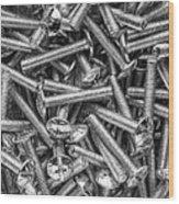 Machine Screws Still Life Wood Print