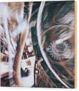 Machine Speed Warp In Blur Wood Print