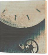 Machine Time Wood Print