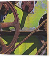 Machinery Gears  Wood Print by Garry Gay