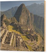 Machu Picchu At Dawn Near Cuzco Peru Wood Print