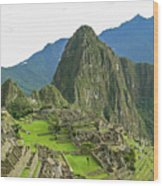 Machu Picchu - Iconic View Wood Print