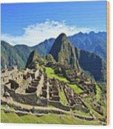 Machu Picchu Wood Print by Kelly Cheng Travel Photography