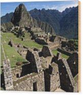 Machu Picchu Residential Sector Wood Print