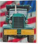 Mack Dump Truck Wood Print