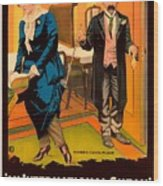 Mack Sennett Comedy - An International Sneak 1917 Wood Print