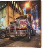 Mack Truck Nyc Wood Print