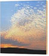 Mackerel Sky Wood Print