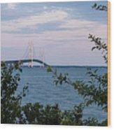 Mackinac Bridge 1 Wood Print