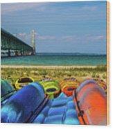 Mackinac Bridge 2240 Wood Print